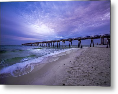 Panama City Beach Pier In The Morning Metal Print by David Morefield