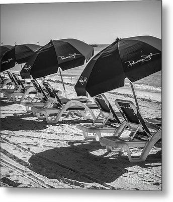 Panama Jack Blues - Higgs Beach - Key West - Square - Black And White  Metal Print by Ian Monk