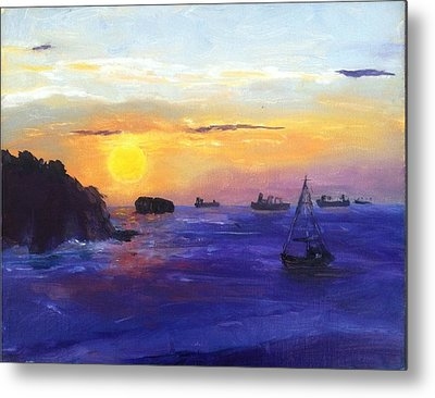 Panama Sunrise Metal Print