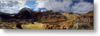 Panaramic Snowdonia Mountains Metal Print