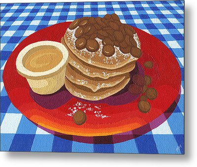 Pancakes Week 4 Metal Print by Meg Shearer