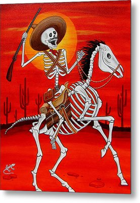 Metal Print featuring the painting Pancho Villa by Evangelina Portillo