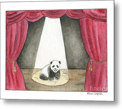 Panda Cub On Center Stage Metal Print by Erica Vojnich