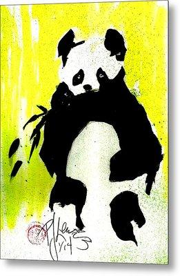 Panda Haiku Metal Print by P J Lewis