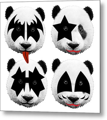 Panda Kiss  Metal Print by Mark Ashkenazi