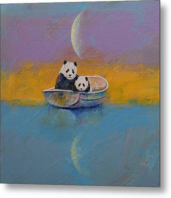 Panda Lake Metal Print by Michael Creese