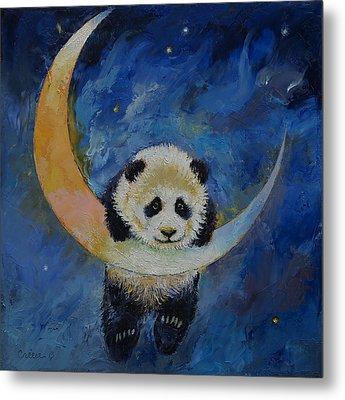 Panda Stars Metal Print by Michael Creese