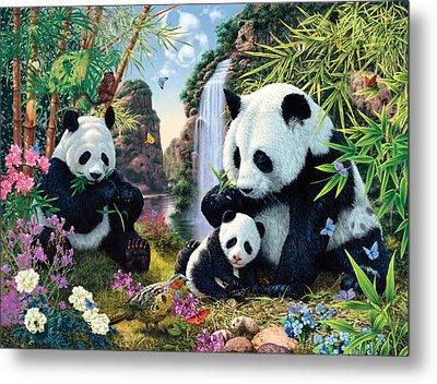 Panda Valley Metal Print