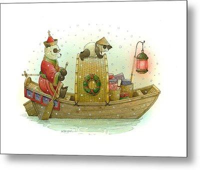 Pandabears Christmas Metal Print by Kestutis Kasparavicius