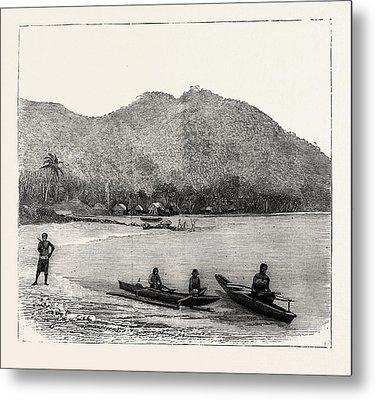Pango Harbour, Samoan Islands Metal Print by Samoan School