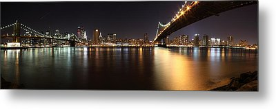Pano Manhattan Large Metal Print by Paslier Morgan