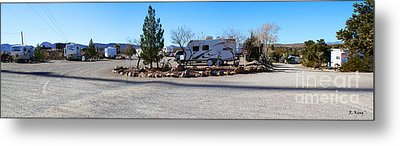 Panorama Cedar Cove Rv Park Street 2 Metal Print by Roena King