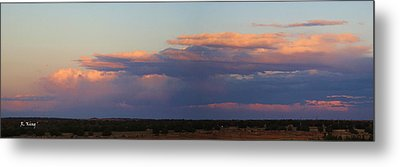 Panorama Colors In The Clouds Metal Print by Roena King