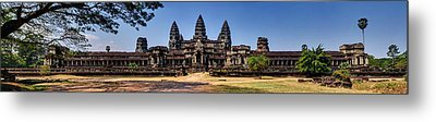 Metal Print featuring the photograph Panorama - Hi-res - National Heritage In Angkor Wat Cambodia by Afrison Ma