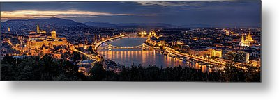 Panorama Of Budapest Metal Print by Thomas D M?rkeberg