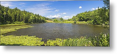 panorama of Long Pond In Summer Acadia National Park Photograph Metal Print by Keith Webber Jr