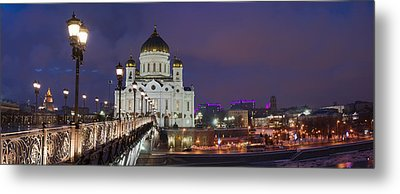 Panorama Of Moscow Cathedral Of The Christ The Savior - Featured 3 Metal Print by Alexander Senin