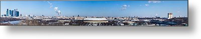 Panorama Of Moscow From Sparrow Hills - Featured 3 Metal Print by Alexander Senin