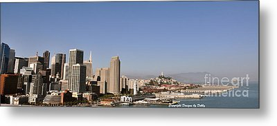 Metal Print featuring the photograph Panorama Of San Francisco by Debby Pueschel