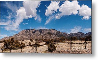 Panorama Of Sandia Mountains From Elena Gallegos Picnic Area - Albuquerque New Mexico Metal Print