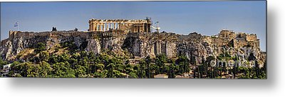 Panorama Of The Acropolis In Athens Metal Print by David Smith