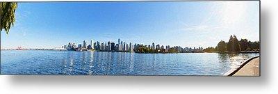 Panorama Of Vancouver Harbor Metal Print
