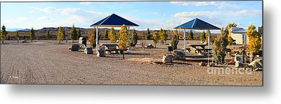 Panorama Outdoor Community Area Metal Print by Roena King