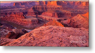 Metal Print featuring the photograph Panorama Sunrise At Dead Horse Point Utah by Dave Welling