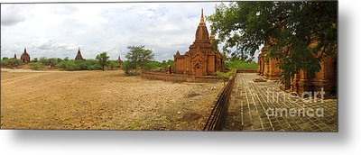 Metal Print featuring the photograph Panoramic View Next To Dhammayazika Pagoda Built In 1196 By King Narapatisithu by Ralph A  Ledergerber-Photography