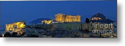 Panoramic View Of Acropolis Of Athens Metal Print