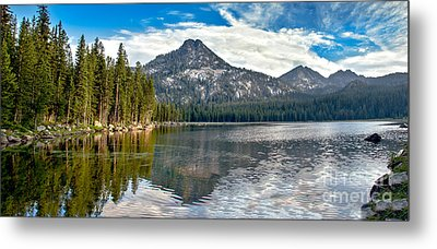 Panoramic View Of Anthony Lake Metal Print