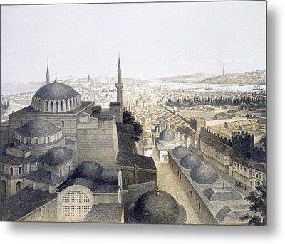 Panoramic View Of Constantinople Metal Print