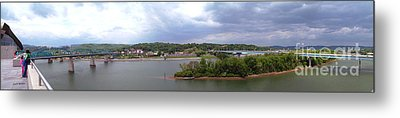 Panoramic View Of North Shore Chattanooga Tennessee Metal Print by   Joe Beasley