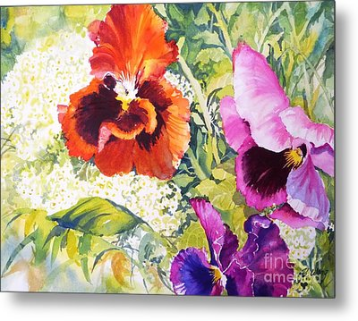 Pansies Delight #2 Metal Print