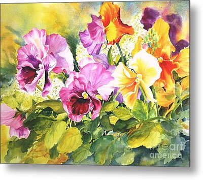 Pansies Delight #3 Metal Print by Betty M M   Wong