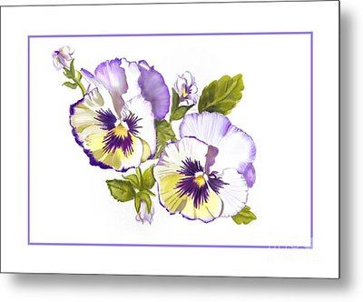 Pansies For Ree Metal Print