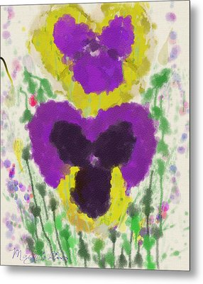 Pansies Metal Print by Mary M Collins