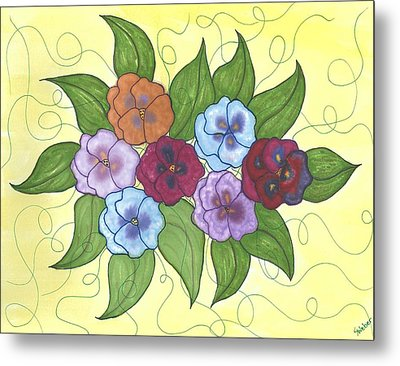 Pansy Posy Metal Print by Susie WEBER