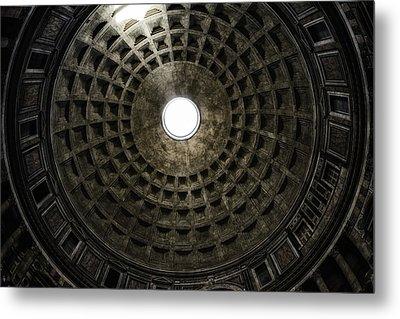 Pantheon Oculus Metal Print by Joan Carroll