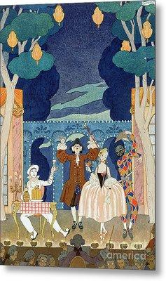 Pantomime Stage Metal Print by Georges Barbier