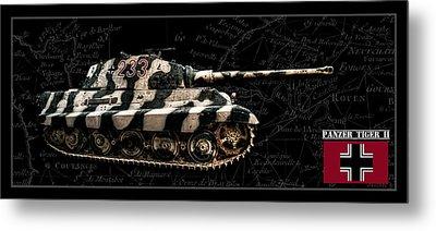 Panzer Tiger II Side Bk Bg Metal Print