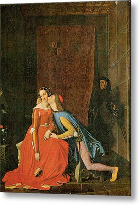 Paolo And Francesca Metal Print by Jean-Auguste-Dominique Ingres