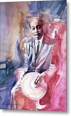 Papa Jo Jones Jazz Drummer Metal Print