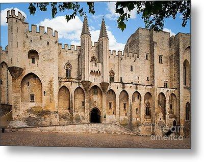 Papal Castle In Avignon Metal Print