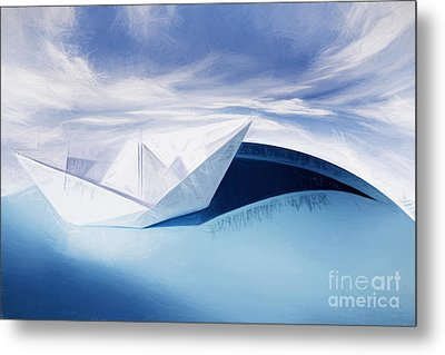 Paper Knots And Cardboard Seas Metal Print by Jorgo Photography - Wall Art Gallery