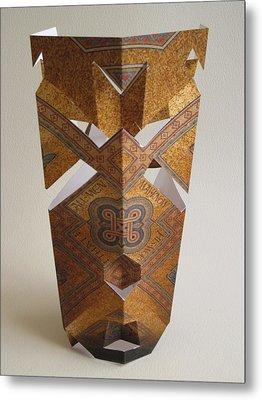 Paper Mask Metal Print by Alfred Ng