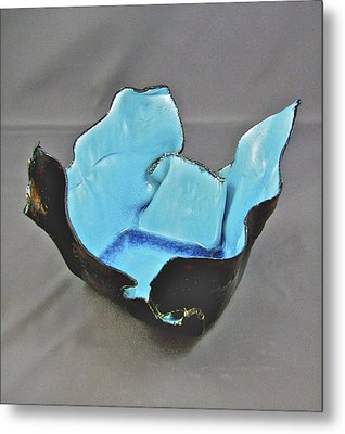 Metal Print featuring the sculpture Paper-thin Bowl  09-001 by Mario Perron