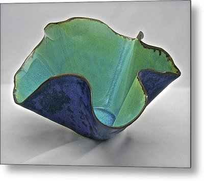 Metal Print featuring the sculpture Paper-thin Bowl  09-006 by Mario Perron