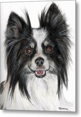 Papillon Painting Metal Print by Kate Sumners