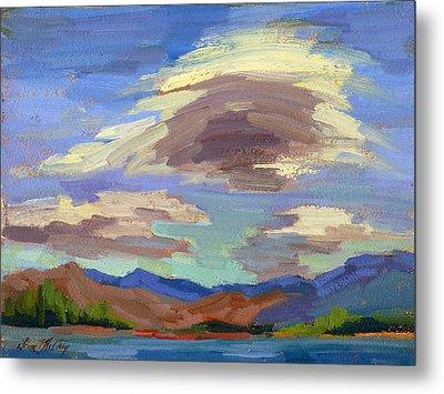 Papoose Lake And Clouds Metal Print